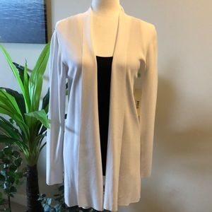 NWT Cyrus white cardigan size large